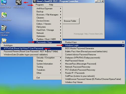 Hirens Boot NTPWEdit 0.3