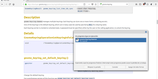 Solucion al Error gnome-keyring-daemon (LinuxMint 18.3 cinnamon)