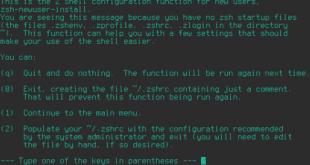 configuración de zsh