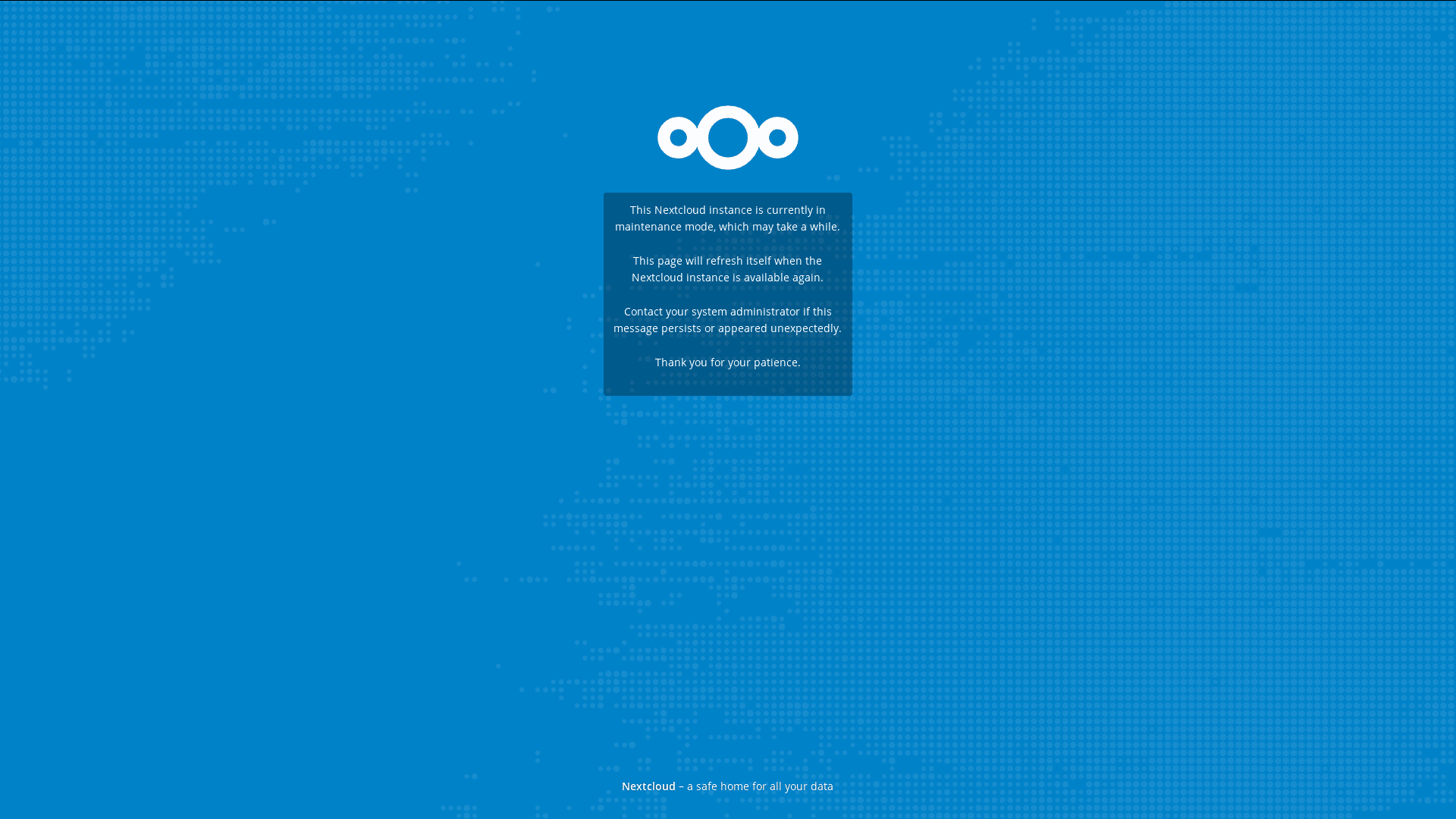 nextcloud maintenance mode